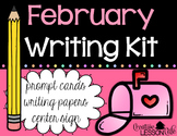 Writing Prompts and Papers - Writing Center Kit {February}
