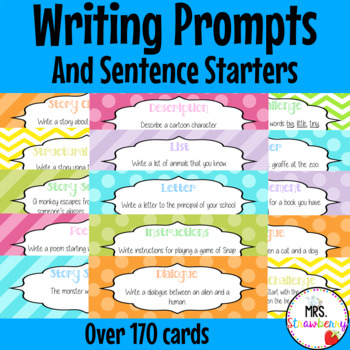 Writing Prompts and Sentence Starter Cards