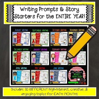 Writing Prompts and Story Starters for the Entire Year!