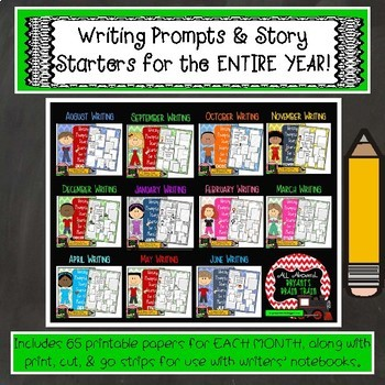 Bell Ringer Writing Prompts and Story Starters for the Entire Year!