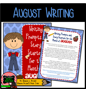 Bell Ringer August Writing Prompts and Story Starters