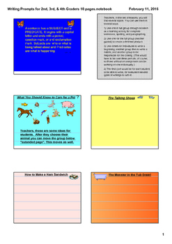 Writing Prompts and Teaching Strategies for Multi-type Stories