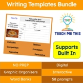 Writing Prompts and Graphic Organizers Bundle Volume 1