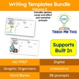 Writing Prompts and Graphic Organizers Bundle Volume 2