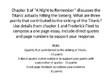 """Writing Prompts for """"A Night to Remember"""""""