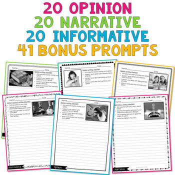 Writing Prompts {Narrative, Informational, Opinion} updated