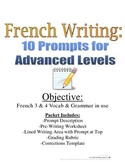 French Writing Prompts for Advanced Students, 10 Topics