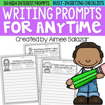 Writing Prompts for Anytime