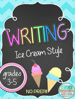 Writing Prompts for Author's Purpose: Ice Cream Style