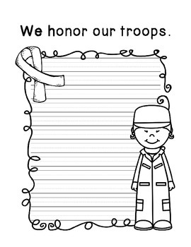 Quick Writing Prompts for: Veteran's Day, Honor, Awareness