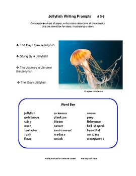 Writing Prompts | OCEANS | SCIENCE Vocabulary | Tips | Rubrics | Check Lists