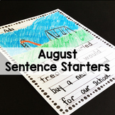 August Back to School Sentence Stem Writing Prompts