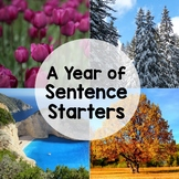Sentence Starters Writing Prompts (Entire Year Bundle)