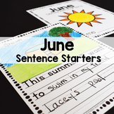 June Sentence Starters Writing Prompts
