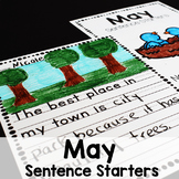 May Sentence Starters Writing Prompts