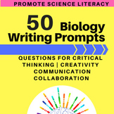 Writing Prompts for Biology - Science Literacy for the Whole Year