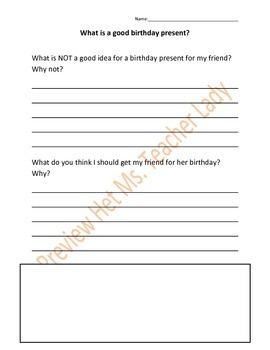 Writing Prompts for Birthday Theme
