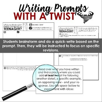 Writing Prompts for Building Skills & Stamina (Distance Learning Updates)