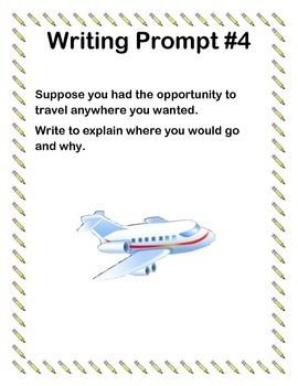 Writing Prompts for Centers