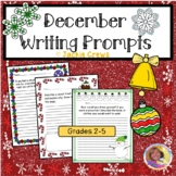 December Writing/Journal Prompts Grades 2-5 No Prep!