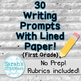 Writing Prompts for First Grade with Lined Paper