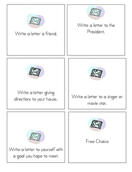 Writing Prompts for Friendly Letter