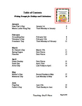 HOLIDAY Writing Prompts | Rubrics | Year of Writing Ideas | Tips | Gr 4,5,6