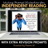 Distance Learning: Writing Prompts for Independent Reading