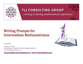 Writing Prompts for Intermediate Mathematicians