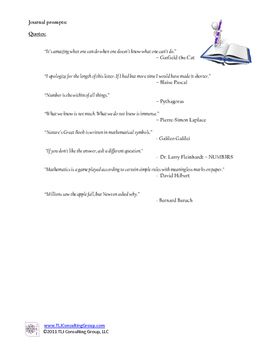 Writing Prompts for Intermediate MathematiciansEdit this resource