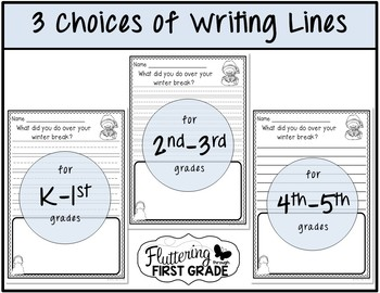 January Writing Prompts for Class Share Time