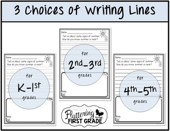 June Writing Prompts for End of Year Class Share Time