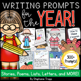 Writing Prompts for Kindergarten, First Grade and Second Grade BUNDLE