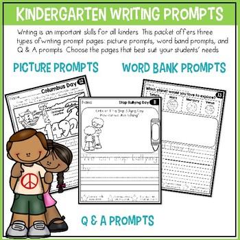 Writing Prompts for Kindergarten to Second Grade GROWING BUNDLE
