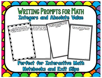 Writing Prompts for Math: Integers