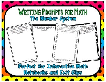 Writing Prompts for Math: The Number System