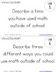 Middle School Math Writing Prompts