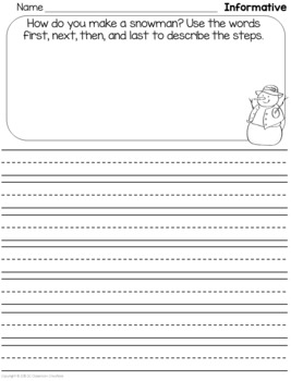 Writing Prompts for Narrative, Opinion, & Informative (CCSS aligned)