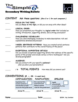 Writing Prompts for Quarterly Assessment Grade 6