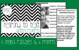 Respond to Text, Passages & Prompts, Writing Centers or Seat Work, CCS & LEAP