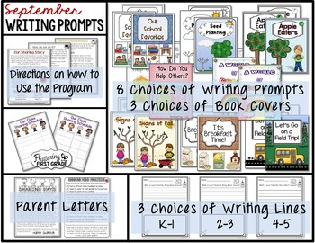 September Writing Prompts for Class Share Time