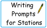 Writing Prompts for Stations