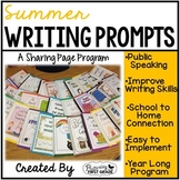 Summer Writing Prompts for Class Share Time