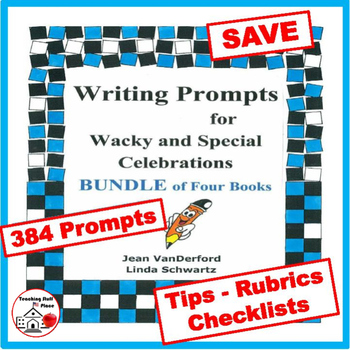 CREATIVE Writing Prompts BUNDLE: Monthly Writing   SAVE $$$   Grade 3-4-5-6