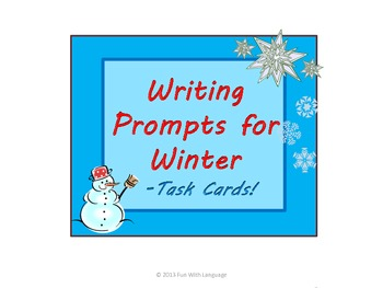 Writing Prompts or Conversation Starters Task Cards f/ CCSS Christmas Valentines
