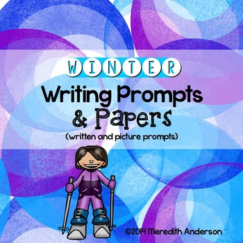 Writing Prompts for Winter (includes wintery papers)