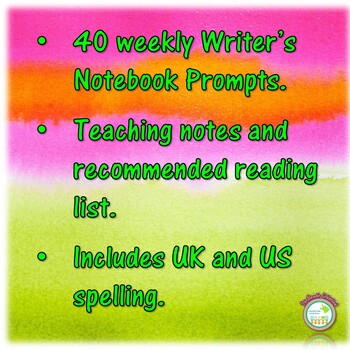 Writer's Notebook - Writing Prompts for 1 Year