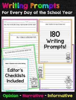 Writing Prompts for the Entire School Year
