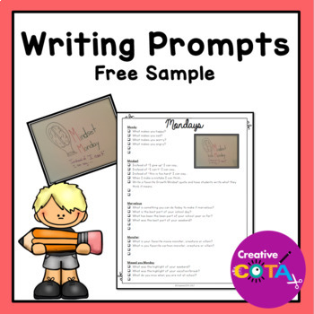 Writing Prompts for the School Year Free Sample