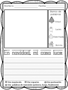 Writing Prompts in Spanish